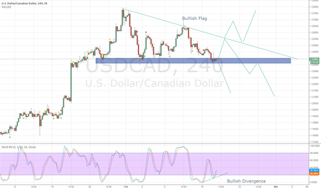 USDCAD: Bullish Flag before the drop USDCAD