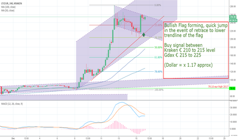 LTCEUR: Bullish Flag on Litecoin Buy signal around 250 Dollar ( 220Eur)