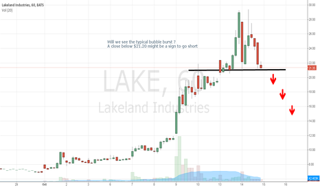 LAKE: Will the Ebola Scare pass over ? LAKE - Bubble stock to burst