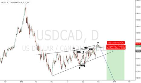 USDCAD: Bearish Flag pattern + Butterfly
