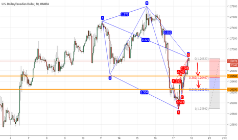 USDCAD: Bearish 5-0 + Bearish Black Swan
