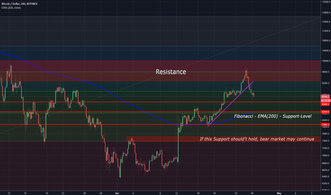 BTCUSD: BTC/USD - Will support hold or bear market continue?!