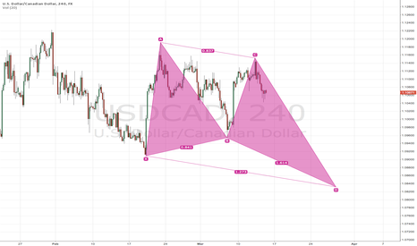 USDCAD: USD/CAD H4 Bullish Butterfly