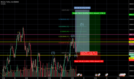 BTCUSDT: BTC to reach 9300$. Entering wave 5