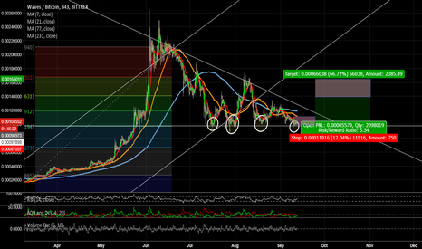 WAVESBTC: WAVES consolodation and Hold