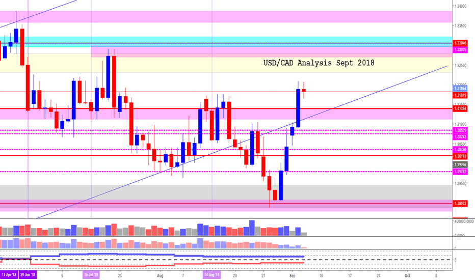 USDCAD: USD/CAD (Sept 2018)  *The future is UP!