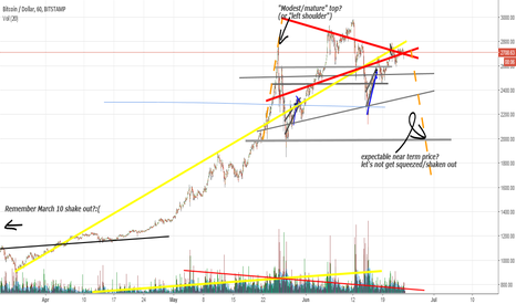 BTCUSD: Bitcoin, big bearish flag / H&S ?