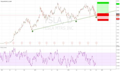 TSLA: TESLA (TSLA) is testing a bullish trendline
