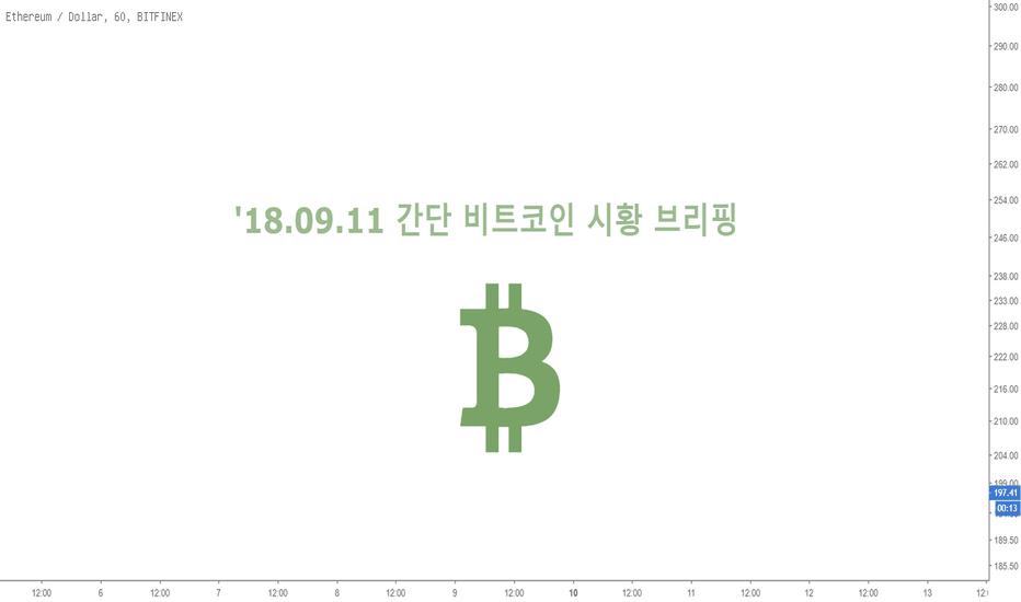 ETHUSD:  '18.09.11 간단 비트코인 시황 브리핑