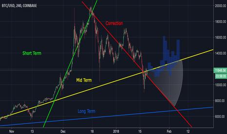 BTCUSD: BTC re-testing mid-term trend line