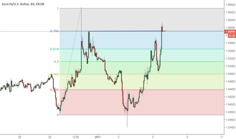 EURUSD: Finding support on Fib and double top