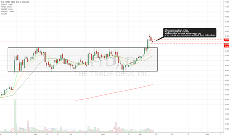 TTD: Nice pullback after recent breakout