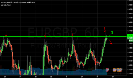 EURGBP: EURGBP Hits on resistance level