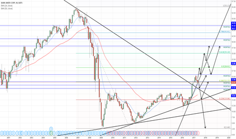 BAC: Bank Of America - Monthly (Long Term Outlook)