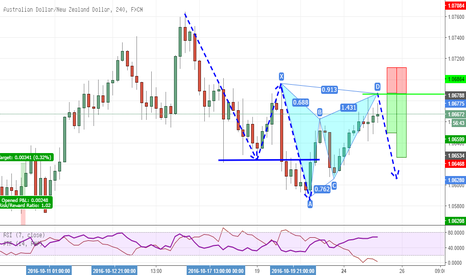 AUDNZD: Deep Gartley formation in Trend Continuation