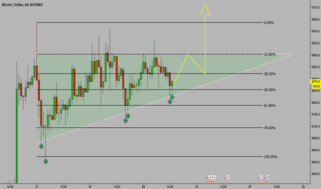 BTCUSD: BTC: Ascending Triangle Confirmed, Another Double Wick Buy-up