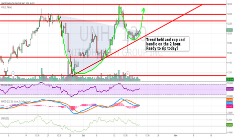 UNH: UNH - Cup and Handle on the 2 hour