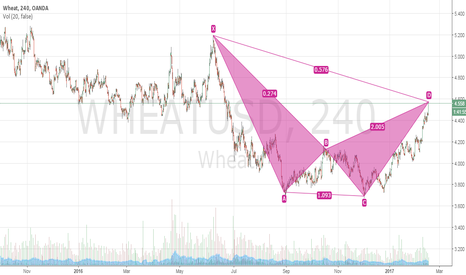WHEATUSD: Bull Bat Pattern Completion on Wheat