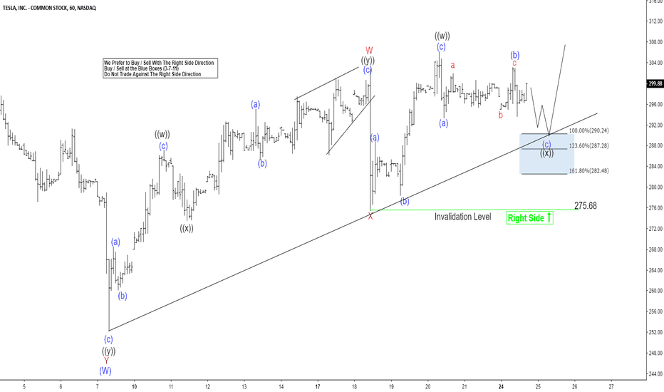 TSLA: Tesla Elliott Wave View: Dips Expected To Remain Supported