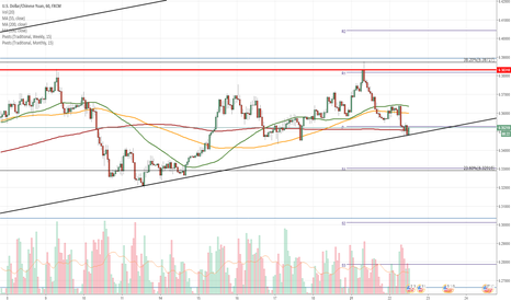 USDCNH: USD/CNH 1H Chart: Two scenarios are shown