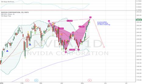 NVDA: NVDA is forming a possible bearish bat