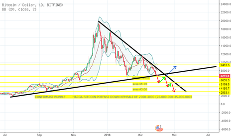 BTCUSD: BITCOIN CONFIRMASI BUBBLE, BTC BACK TO 2000-3000$