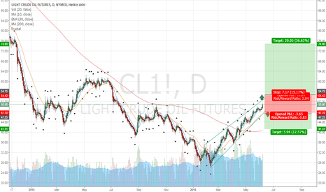 CL1!: Oil has bottomed, downside seem limited