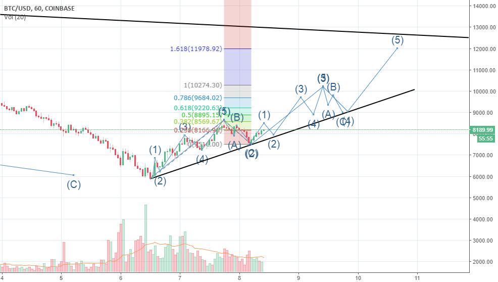BTC target 11k-12k in few days reactive analysis then predictive