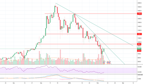 BTCUSD: Looking at trend and resistance lines of current bear market