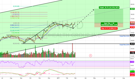 UNH: Potential Bull Flag