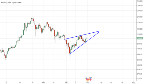 BTCUSD: Potential Rising Wedge on the Daily..