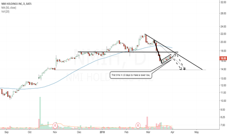 NMIH: Bear flag formation.