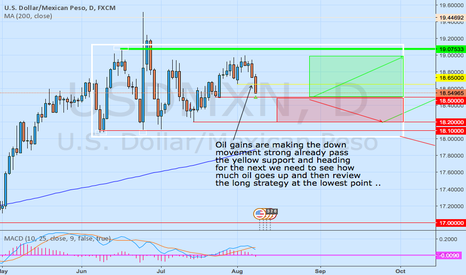 USDMXN: USDMXN OIL GAINS HELPING THE DOWN