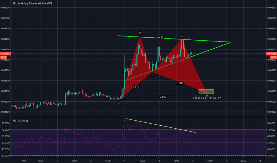 BTGBTC: Potential Completion of Bullish Bat Pattern