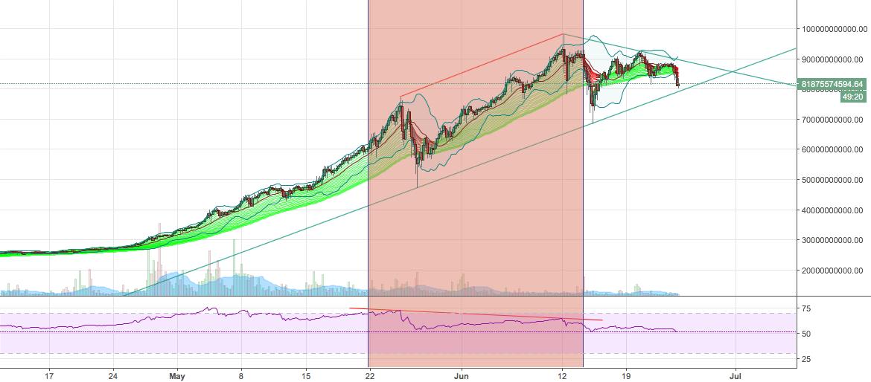 Largest CryptoCurrencies Market Index RSI Divergence