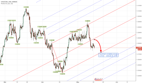 USDCAD: PITCHFORK - Forex USDCAD Weekly Analysis 14th - 18th May 2018