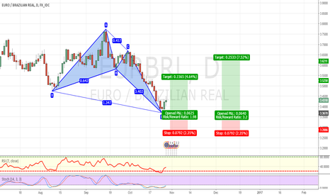EURBRL: BULLISH BUTTERFLY PATTERN COMPLETED
