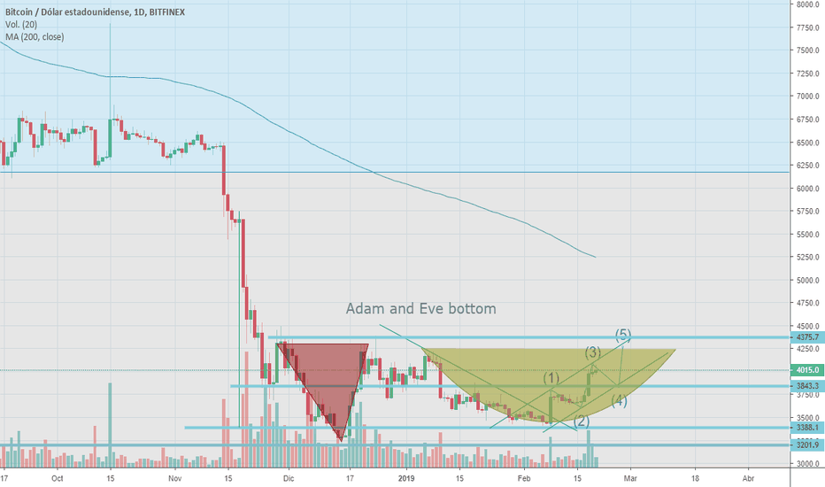 BTCUSD: Adam and Eve bottom + channel in BTC