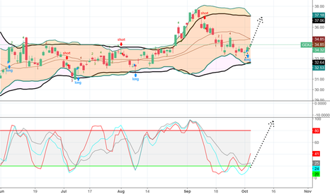 GDXJ: Bullish chart pattern, moves up to 36-37 is possible