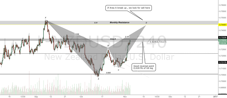NZDUSD 4H Chart.Short View