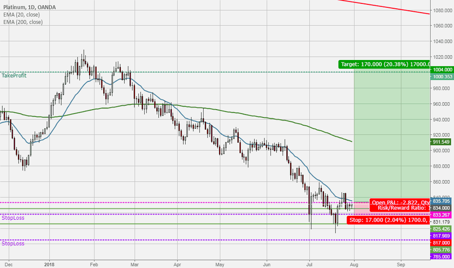 XPTUSD: Long Platin above 834 $/bbl for a long term trade (buy and hold)