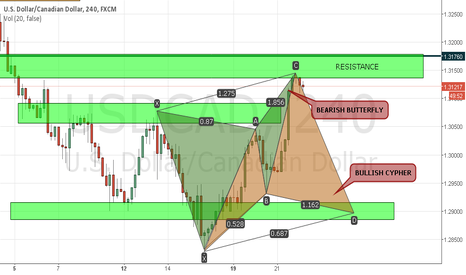 USDCAD: BUTTERFLY N CYPHER