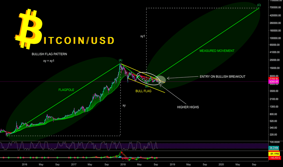 BTCUSD: EVER WONDERED IF BITCOIN IS IN MAJOR BULL FLAG - CryptoManiac101
