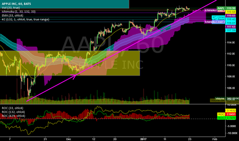AAPL: AAPL @ 1h @ the trend is your friend! But around 120 also?