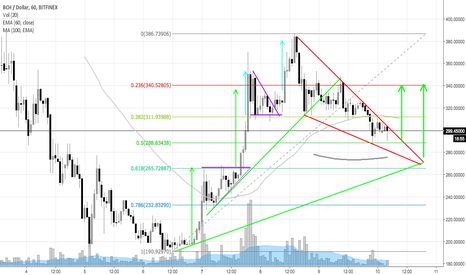 BCHUSD: Falling Wedge on BCHUSD 1H chart