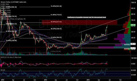 BTCUSD: Possible Stopping point for BTC?