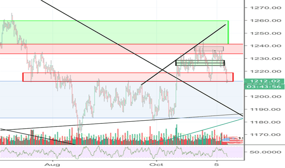 XAUUSD: Play the ranges on gold. 1210-1215 has been the low