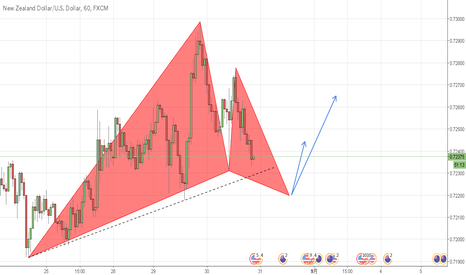 NZDUSD: (NZDUSD)1H LONG, Gartley