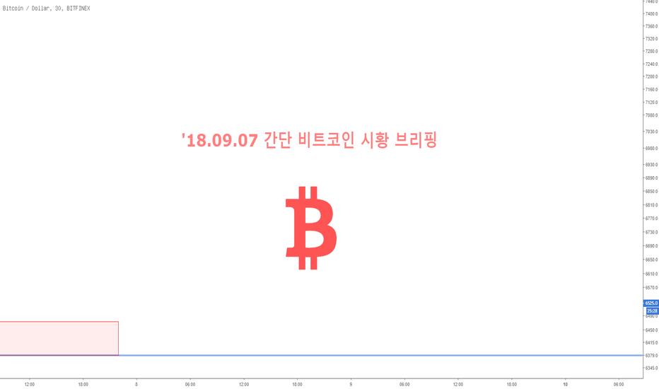 BTCUSD: '18.09.07 간단 비트코인 시황 브리핑 드립니다.