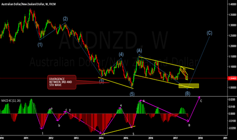 AUDNZD: LONG TERM VIEW AND ELLIOT WAVE COUNT